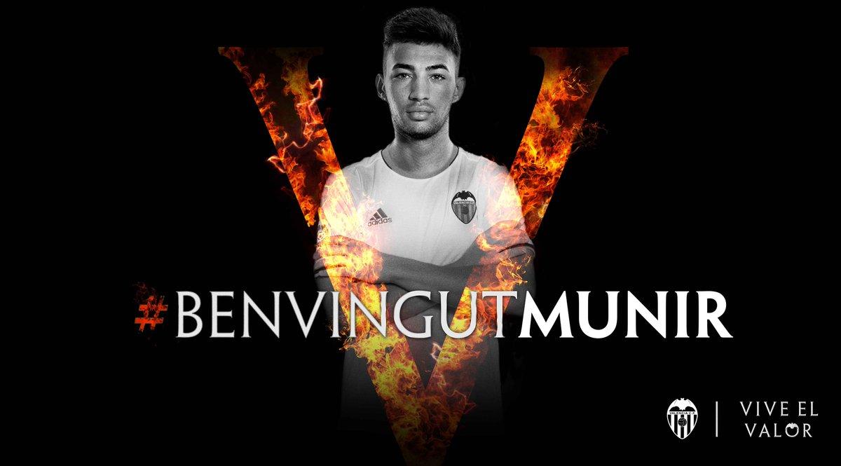 Munir e l'hashtag di benvenuto - FOTO: account ufficiale Twitter Valencia CF