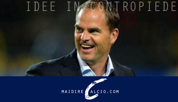 Frank De Boer è il nuovo tecnico dell'Inter