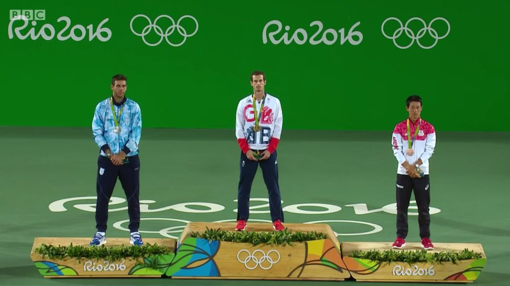 podio tennis murray del potro nishikori rio olimpiadi 2016