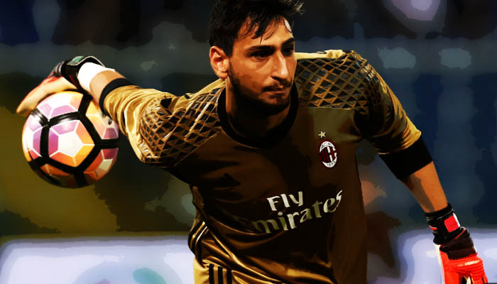 Fiorentina-Milan, Gianluigi Donnarumma - Serie A 2016/17