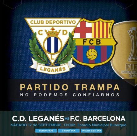 Leganes-Barcellona - FOTO @CDLeganes