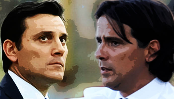 Milan-Lazio, Vincenzo Montella e Simone Inzaghi - Serie A