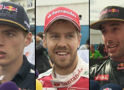 Verstappen, Vettel e Ricciardo - Fonte: Twitter @F1