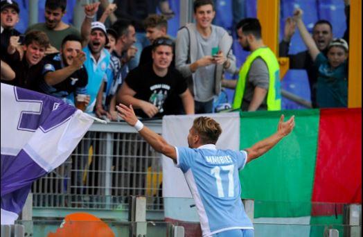 Immobile esultanza Lazio