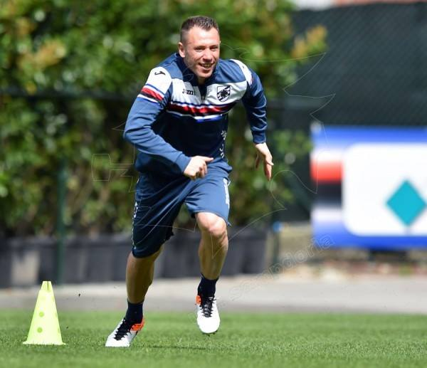 Antonio cassano allenamento