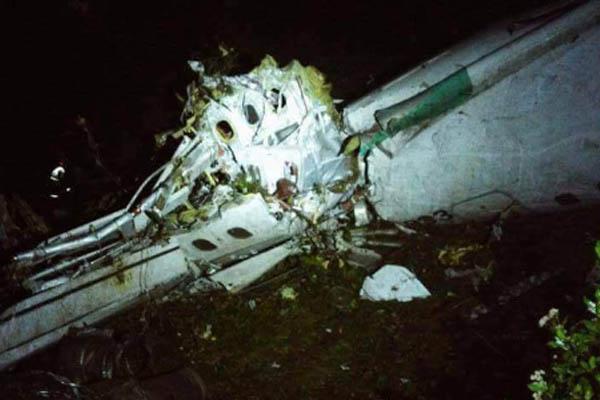 L'aereo Cp2933 che trasportava anche la Chapecoense