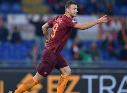 Edin Dzeko, Roma-Pescara - Fonte: Roma AS Twitter account
