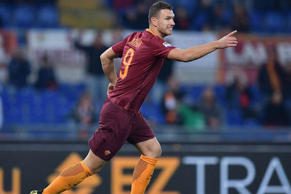Edin Dzeko, Roma-Pescara - Fonte: Roma AS Twitter account