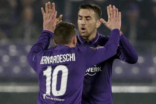 Fiorentina-PAOK, Bernardeschi e Vecino - Fonte: Europa League
