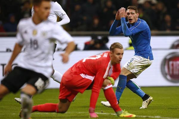 Italia-Germania, Andrea Belotti - Fonte: Nazionale Italiana Twitter