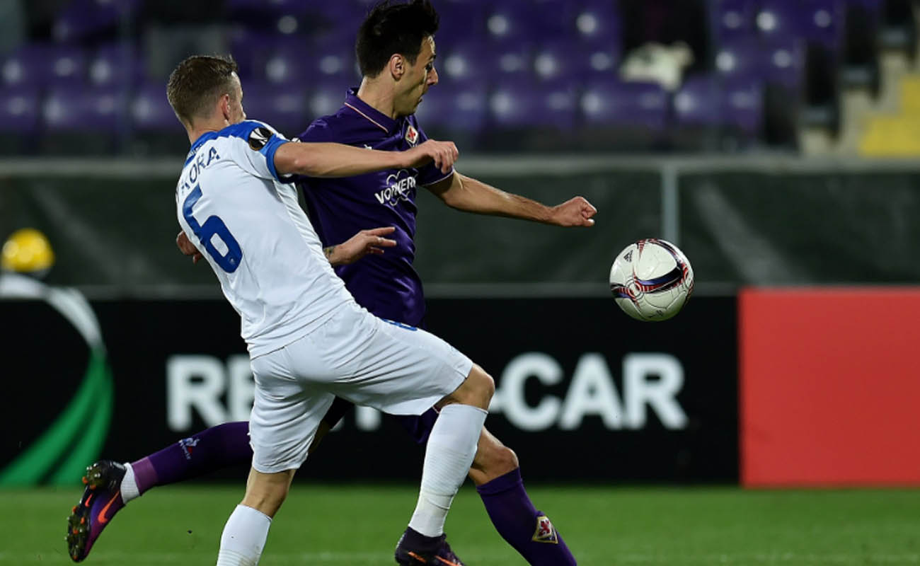 Nikola Kalinic, Fiorentina-Slovan Liberec - Fonte: EL Twitter
