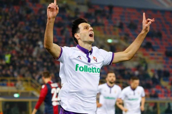 Nikola Kalinic, Inter-Fiorentina - Fonte: Fiorentina account Twitter