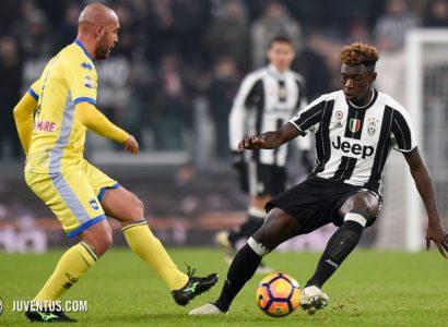 Moise Kean contro il Pescara - Fonte: Twitter @juventusfc