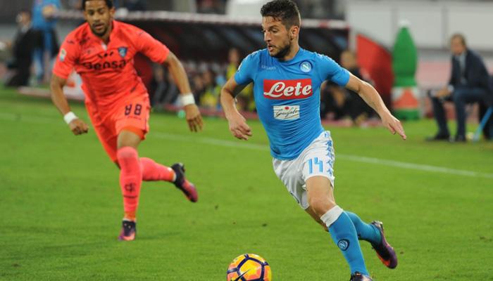 Dries Mertens, Napoli-Lazio - Serie A 2016/17 fonte: Account Twitter Napoli