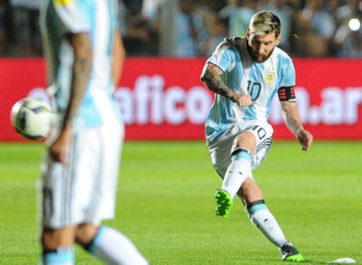 Lionel Messi, Argentina-Colombia - Fonte: Argentina Twitter account
