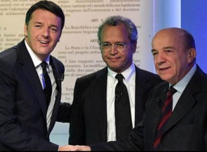 Matteo Renzi e Gustavo Zagrebelsky - Fonte: Comitato per il No