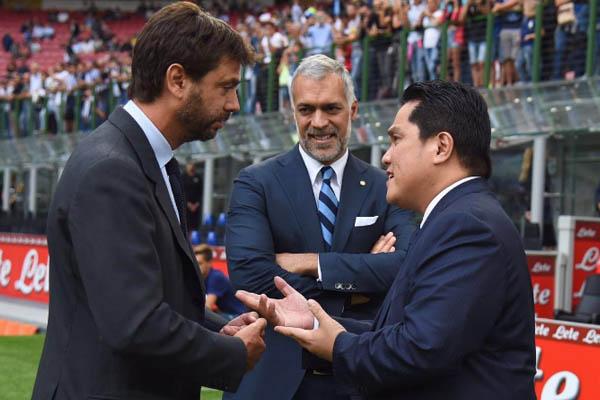 Erick Thohir e Andrea Agnelli, Inter - Serie A 2016/17
