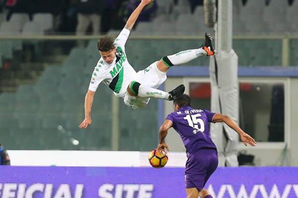 Gazzola, Fiorentina-Sassuolo - Fonte: Sassuolo Twitter