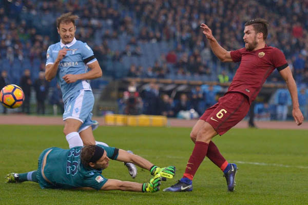 Kevin Strootma, Lazio-Roma - Fonte: AS Roma account Twitter