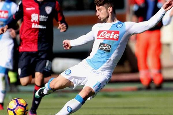 Dries Mertens, Cagliari-Napoli - Fonte: Uefa.com
