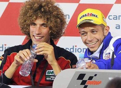 Valentino Rossi e Marco Simoncelli