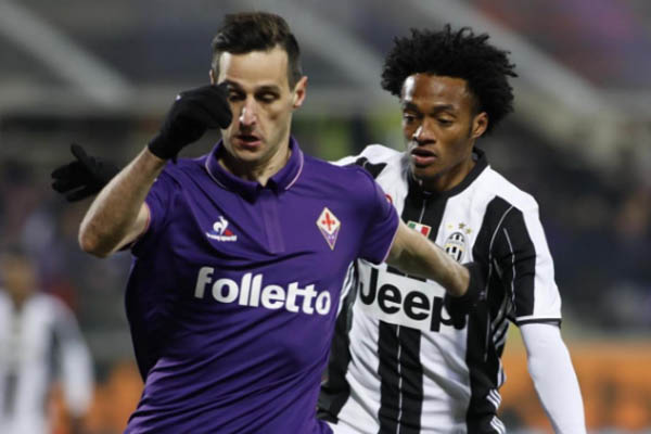 Nikola Kalinic, Fiorentina-Juventus, Serie A - Fonte: Juventus Twitter