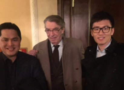 Massimo Moratti, Steven Zhang ed Erick Thohir, Inter - Fonte: Inter Twitter