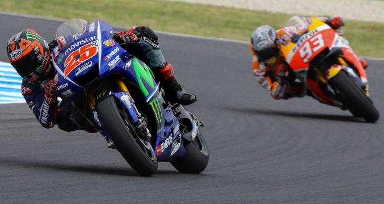 Vinales Marquez test Philip Island day 3 - Fonte: Twitter @MotoGP