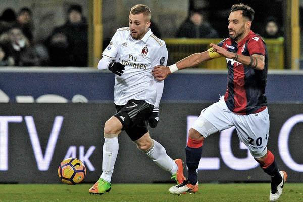 Gerard Deulofeu, Milan-Bologna Serie A - Fonte: Milan Twitter