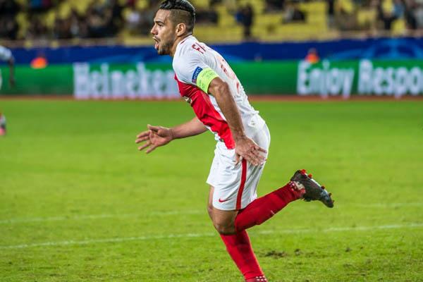 Radamel Falcao, Manchester City-Monaco - Fonte: Monaco Twitter