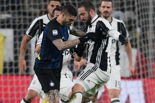 Juventus-Inter, Icardi e Higuain - Fonte: Inter Twitter