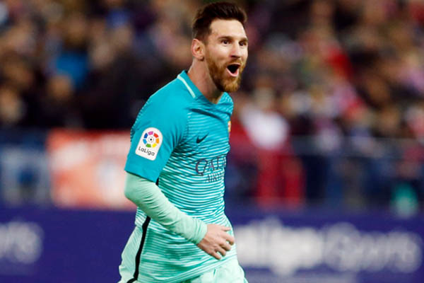 Lionel Messi, Atletico Madrid-Barcellona Coppa del Re - Fonte: Barcelona Twitter