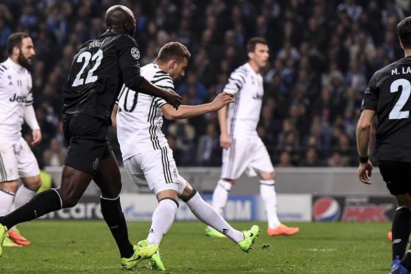 Pjaca, Porto-Juventus - Fonte: Juventus Twitter