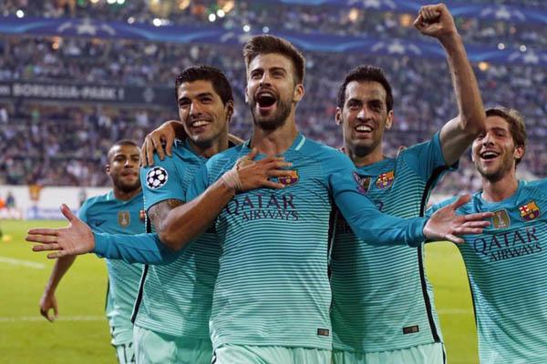 PSG-Barcellona, Chempions League 2016/17 - Fonte: BArcellona Twitter