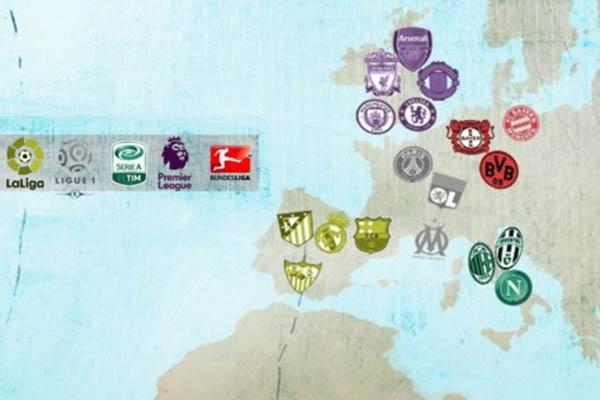 Superliga Europea, grafica di Marca - www.marca.com