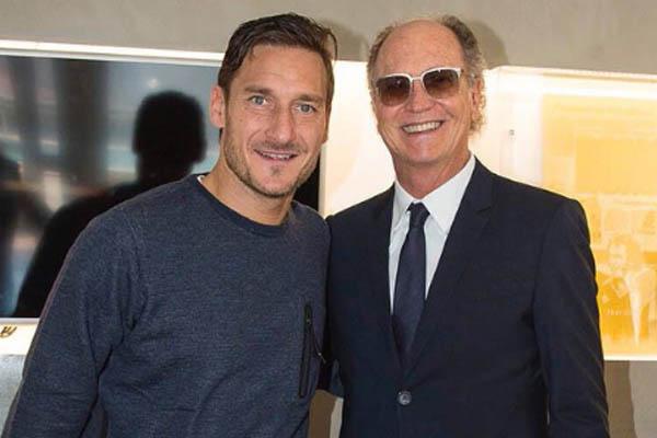 Francesco Totti insieme a Falcao - Roma, Fonte: Totti Twitter