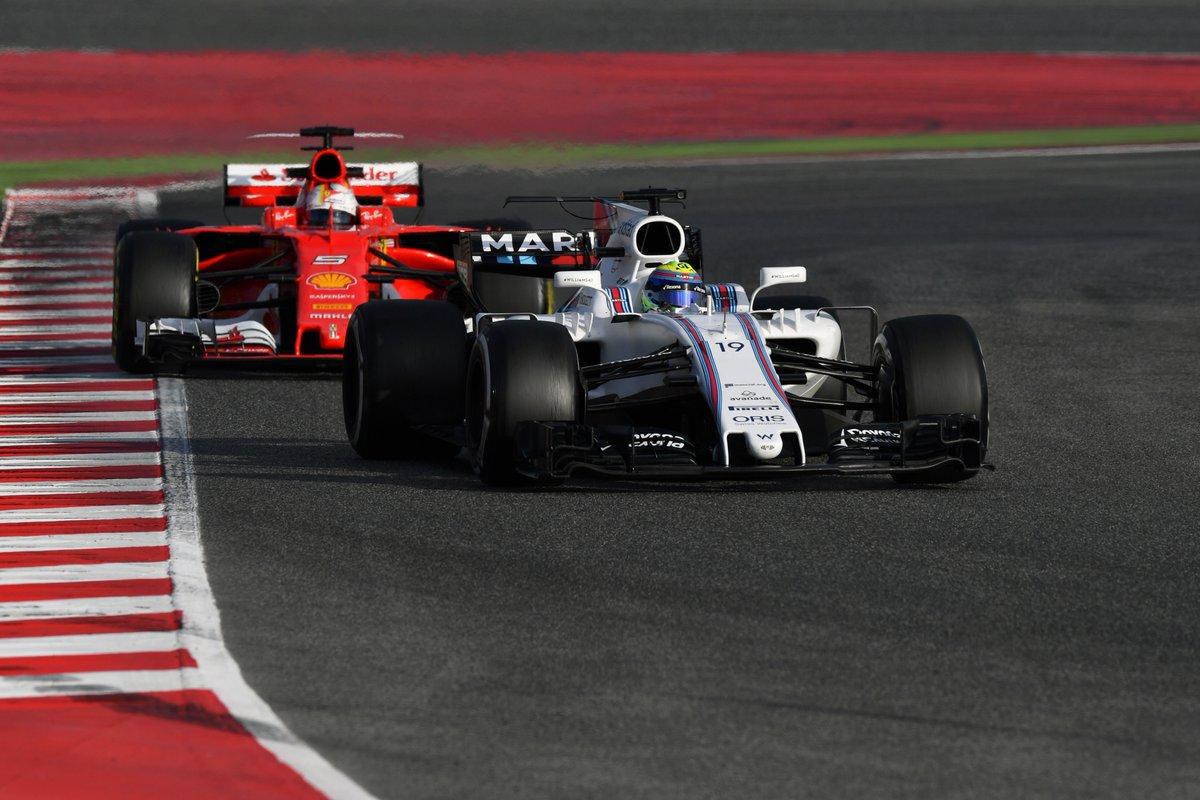 Massa Vettel test Barcellona day 5 - Fonte: Twitter @F1