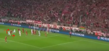 Sergio Ramos gol contro Bayern Monaco