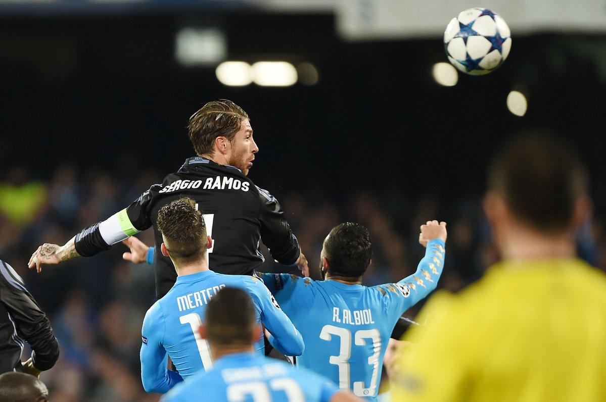 Ramos Napoli-Real Madrid - Fonte: Twitter @ChampionsLeague