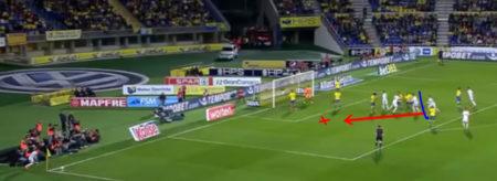 Sergio Ramos gol contro il Las Palmas con difesa a zona mista