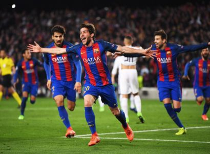 Sergi Roberto Barcellona-Psg 6-1 - Fonte: Twitter @espn