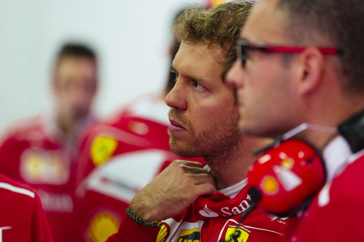 Vettel test barcellona - Fonte: Twitter @ScuderiaFerrari