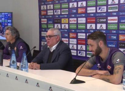 Conferenza stampa Fiorentina, Corvino, Gonzalo Rodriguez, Paulo Sousa - Fonte: Fiorentina AC Official