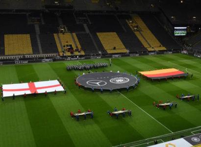 Germania-Inghilterra, le prove prima del match al Signal Iduna Park