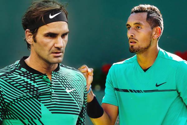Kyrgios e Federer, Tennis BNP Open - Fonte: BNP Paribas