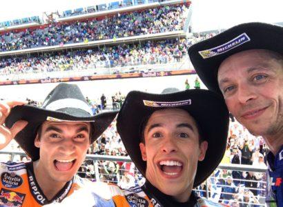 Pedrosa Marquez Rossi podio MotoGP Stati Uniti 2017