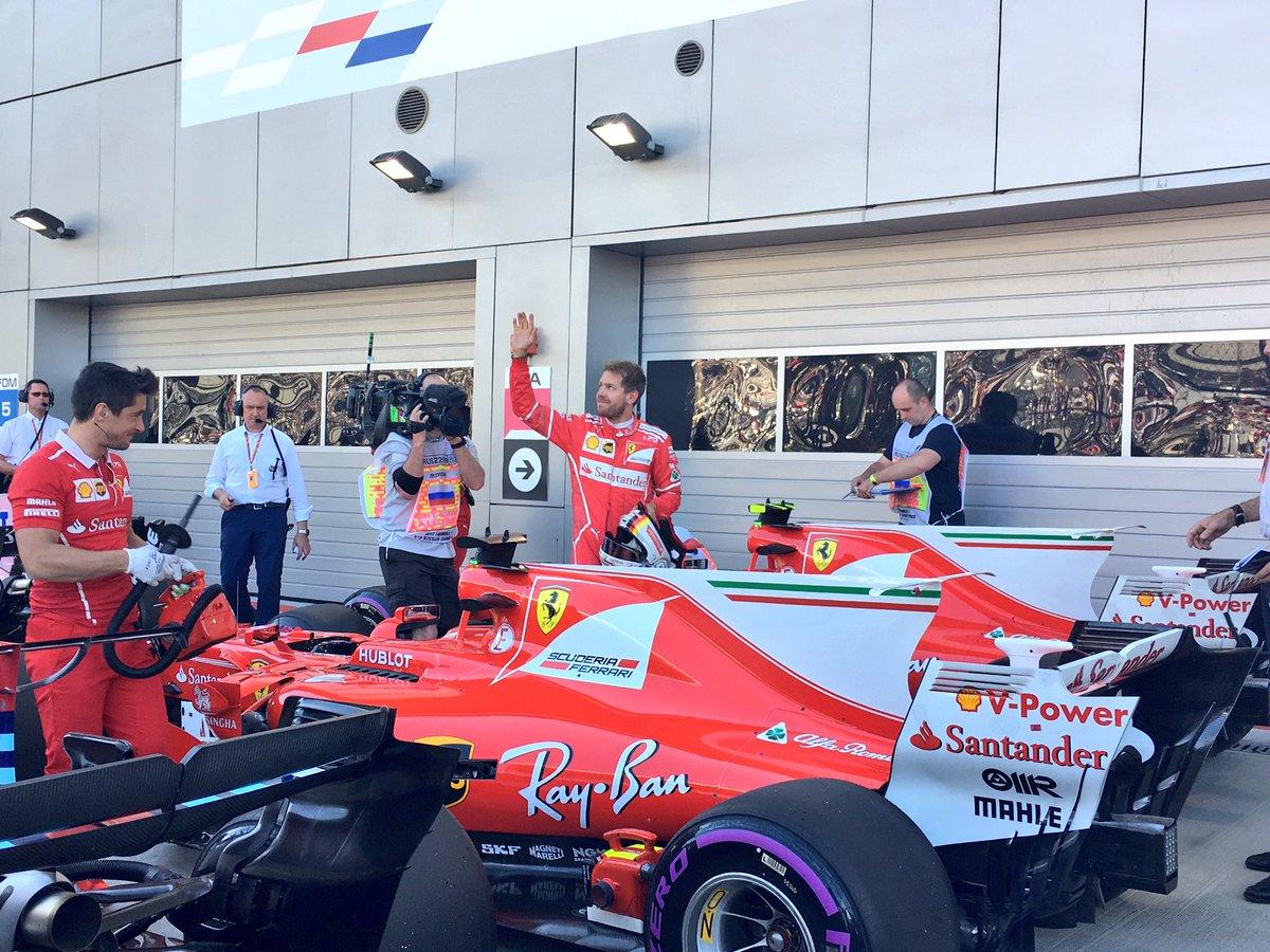 Vettel qualifiche Gp Russia F1 2017