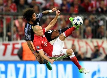 Bayern Monaco-Real Madrid - Champions League - Robben e Marcelo