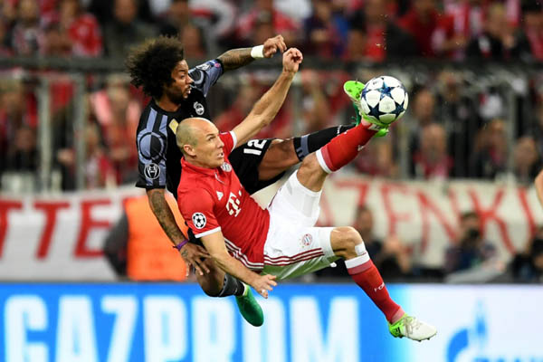 Bayern Monaco-Real Madrid - Champions League - Robben e Marcelo