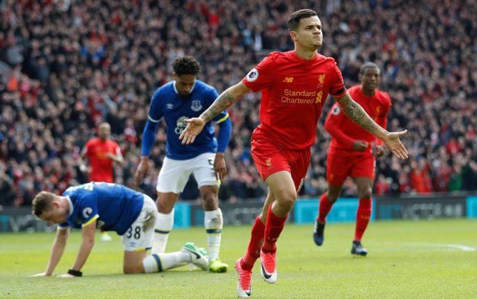 coutinho gol merseyside derby